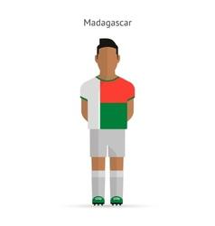 Madagascar football player soccer uniform vector