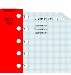 math page notebook vector image