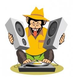 monkey Dj vector image