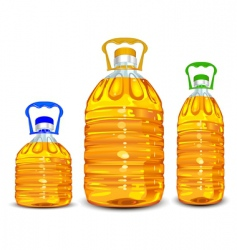 oil bottles vector image