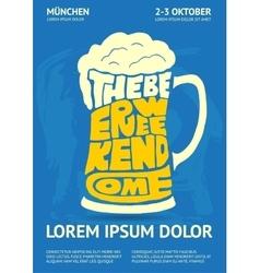 Poster for oktoberfest beer festival vector