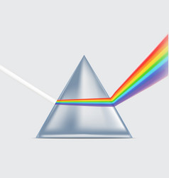 Realistic detailed 3d spectrum prism vector