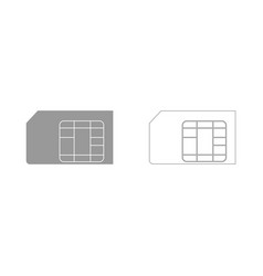 Sim card the grey set icon vector
