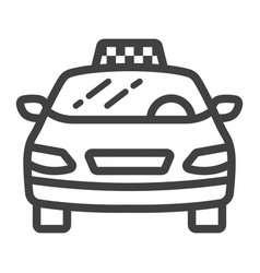 taxi car line icon transport and automobile vector image vector image
