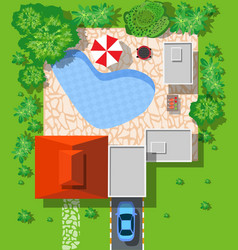 Top view of houses vector