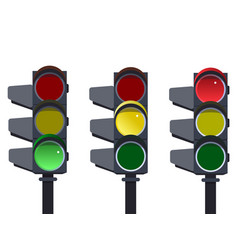 traffic light traffic light sequence vector image vector image