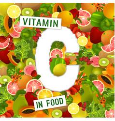 Vitamin c background vector