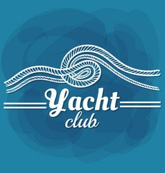 white lettering yacht club vector image vector image