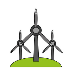 Wind turbine renewable energy source icon image vector