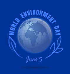 world environment day design june 5 vector image vector image