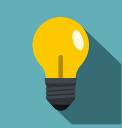 yellow light bulb icon flat style vector image vector image