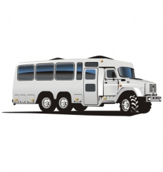 All terrain bus vector