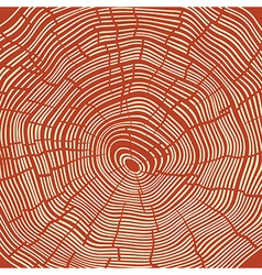 Tree rings red textured background vector