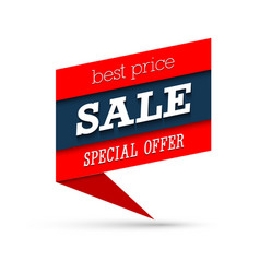Sale special offer banner vector