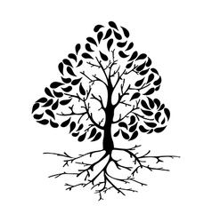 Tree icon silhouette vector