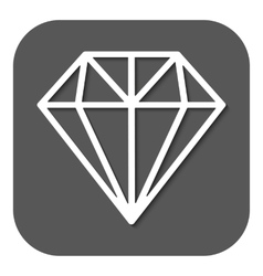 The diamond icon jewel symbol flat vector