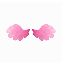 Pair of pink bird wings icon cartoon style vector