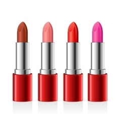 Realistic lipstick set vector