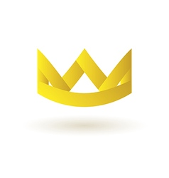 Crown king logo symbol icon vector