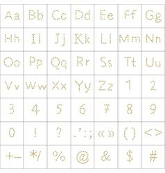Alphabet from human footprint vector