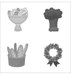 birthday service and other monochrome icon in vector image