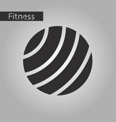 Black and white style icon fitball vector