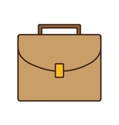 Cartoon beige portfolio suitcase business icon vector