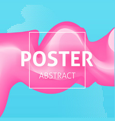 colorful poster abstract vector image