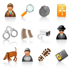 Detective agency icons vector