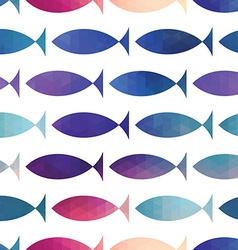 Fish seamless pattern triangle fish abstract fi vector