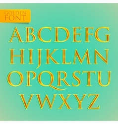 Golden font vector