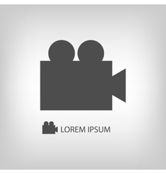 Grey video camera vector