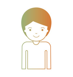 Half body man with short hair in degraded green to vector