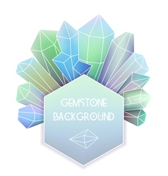 Hexagon frame with crystal composition vector