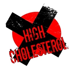 High Cholesterol rubber stamp vector image