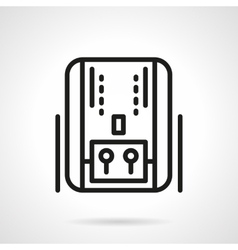 Home heating system black line icon vector