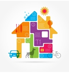 Home - infographics and icon set vector image