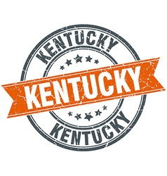 Kentucky red round grunge vintage ribbon stamp vector