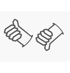 Like and Dislike button Thumb up and down hand vector image
