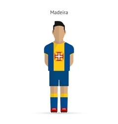 Madeira football player soccer uniform vector