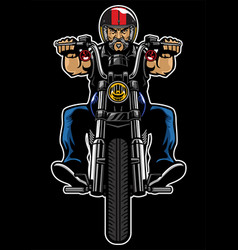 man riding motorcycle vector image vector image
