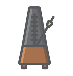 Metronome filled outline icon music vector
