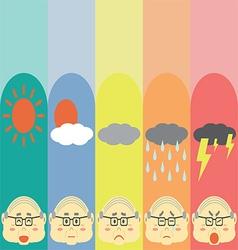 Moods Cute Pastel OldMan vector image
