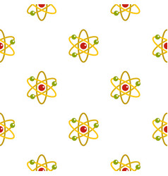 Nucleus and orbiting electrons pattern seamless vector