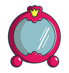 Princess mirror icon cartoon style vector