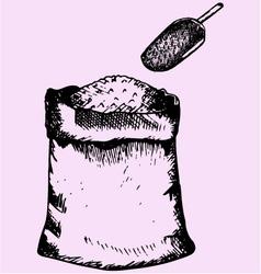 Sack flour vector