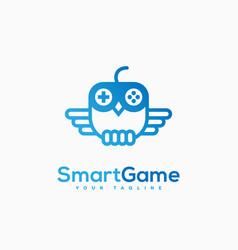 smart game logo vector image vector image