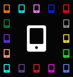 Tablet icon sign Lots of colorful symbols for your vector image