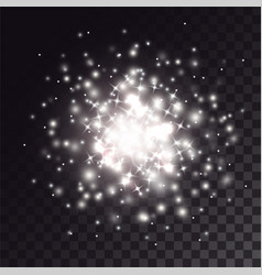 White explosion of sparkles effect vector