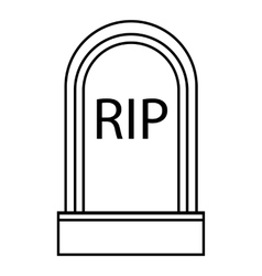 Grave rip icon outline style vector